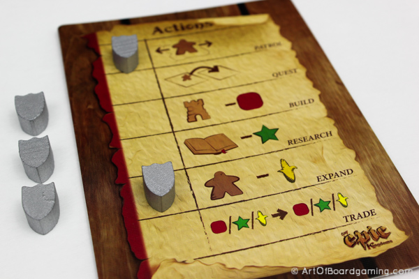 Tiny Epic Kingdoms - Action Selection Board