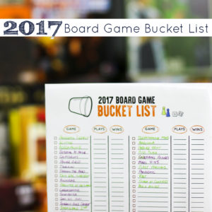 Board Game Bucket List