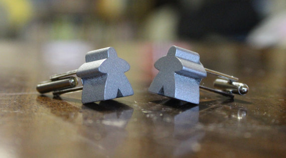 Meeple Cufflinks - Gifts for Gamers
