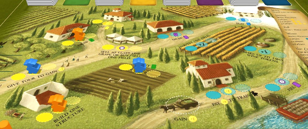 Viticulture board on Tabletopia - Summer and Winter Seasons
