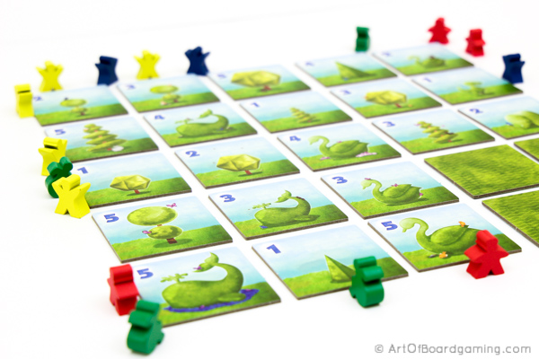 Full end of game board. Topiary Review.