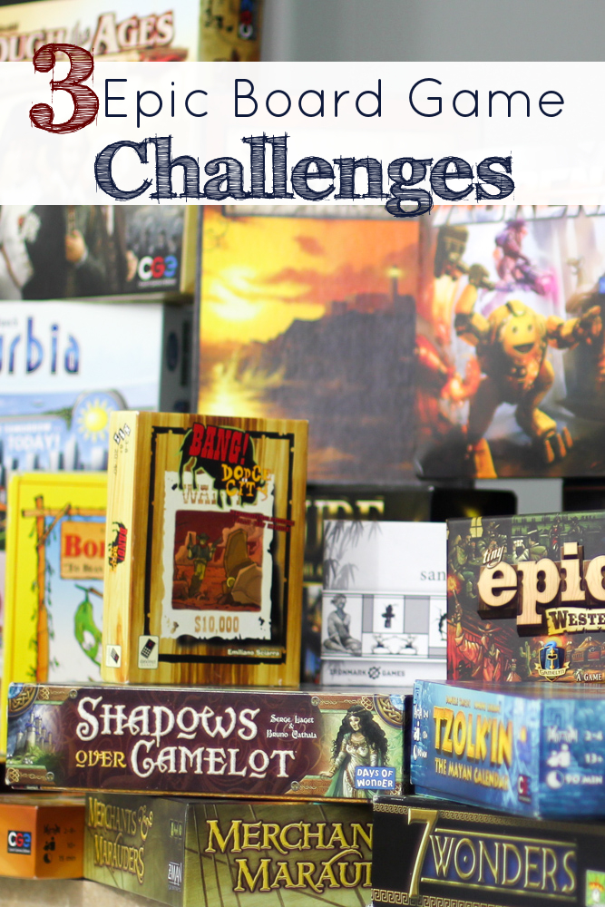 Choose Your Epic Board Game Challenge | Year of Intentional